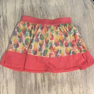 Adorable white and pink pineapple skirt w/shorts